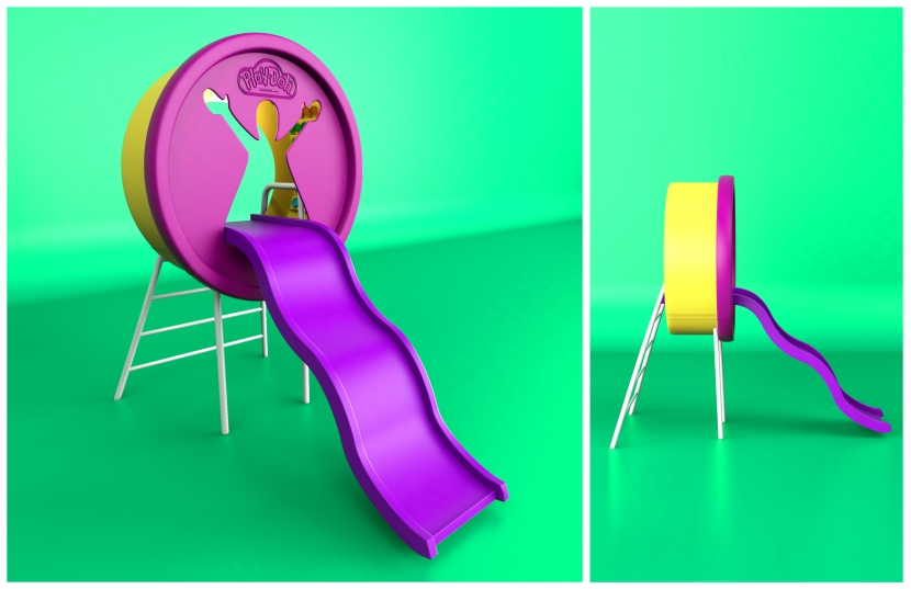 Play-doh Lata de piso resbaladero juegos infantiles play ground latita silueta masilla masita plastilina